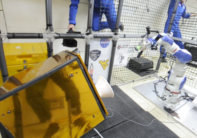 NASA robot visually tracking a free-floating, non-cooperative target